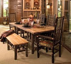 rustic dining room table with bench new picture of throughout furniture designs 1