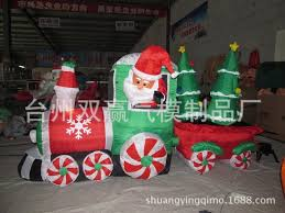 inflatable christmas train with the tree inflatable christmas toys christmas inflatables outdoor decoration