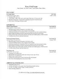 Bank Resume Template Investment Banking Resume Sample Investment