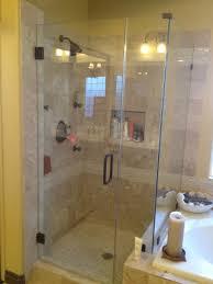 Bathrooms Design : Simple Bathroom Shower Glass Door On Small Home ...