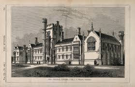 File:New College, St John's Wood, London. Wood engraving by C.D. ...