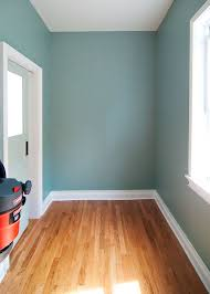 blue office walls. the color stratton blue by benjamin moore and we had it matched to office walls p
