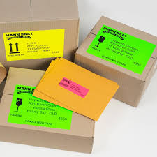 Fluoro Green High Visibility Shipping Labels 35932 Avery