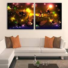 lighted canvas art modern the golden butterfly led print wall radiance decoration for living room bedroom on star trek lighted canvas wall art with lighted canvas art modern the golden butterfly led print wall