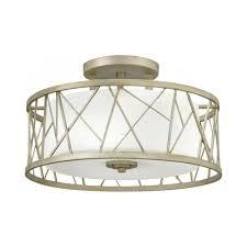 nest circular semi flush fitting low ceiling light