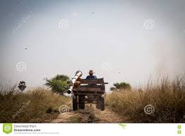 The Farmer Go Back Home After Hard Working Gray Sky Stock