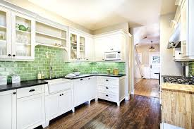 green tile backsplash kitchen cream wall mounted kitchen cabinet white  kitchen drawers green cream wall mounted