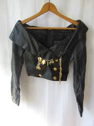michael hoban designer black leather jacket