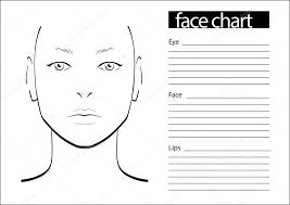 Blank Face Chart Makeup Chart Face Stock Illustrations Royalty Free