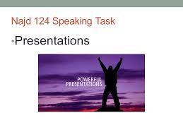 najd speaking task presentations presentation weeks  1 najd 124 speaking task presentations