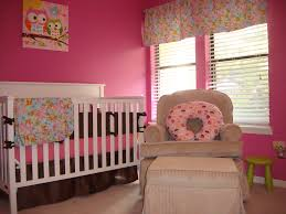 Pink And Brown Bedroom Decorating Bedroom Pink Brown Baby Girl Room Idea With Pink Wall And Brown