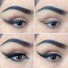 winged eye makeup intense winged out eye liner cat eye makeup tutorial my hijab
