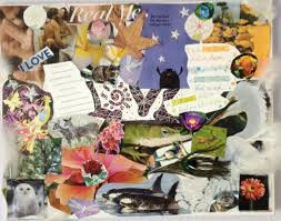 example of collage here is an example of collage work which is a fun and therapeutic