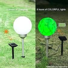 elegant solar globe lights 8 inch solar garden ball lights solar lights color changing globe lights for outdoor large globe solar garden lights