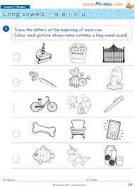 What is the phonics short oo sound and the phonics long oo sound? Phonics Worksheets Lesson 4 Long Vowel Revision