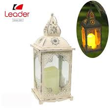 china metal white candle lantern with