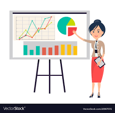 Business Woman Making Presentation Near Flipchart