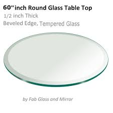 glass table top 60 inch round 1 2 inch thick beveled tempered 799456352718