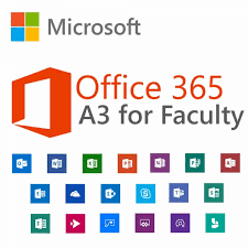 Offi 365 Microsoft Office 365 A3 For Faculty Monthly Subscription School License