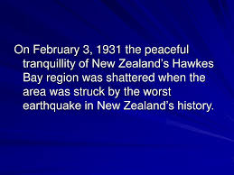 Image result for 1931–The Hawke's Bay earthquake map