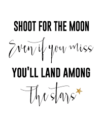 Inspirational Quotes And Sayings Cool Inspirational Quotes Shoot For The Moon Free Printable