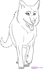 wolf howling drawing anime. Wonderful Drawing How To Draw A Cartoon Wolf Step By Step Forest Animals Animals Inside Wolf Howling Drawing Anime N