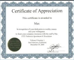 Volunteer Certificate Of Appreciation Templates Certificate Of Appreciation Template Girlfestbayarea Org