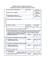 Delivery Manifest Template Epa Forms Asbestos Waste Shipment Record Fill Online Printable