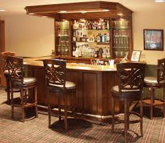Small Bar For Living Room Living Room Wonderful Basement Bar Cabinet Ideas With Brown