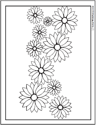 Small Picture Daisy Flower Coloring Coloring Pages
