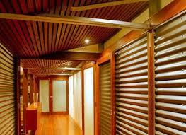 corrugated sheet metal walls paneling and flooring