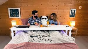 bedchill connected overbed rolling table