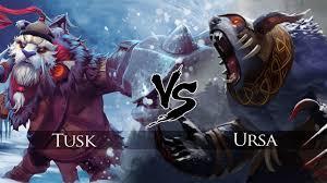 dota 2 tusk vs ursa one click battle youtube