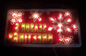 Merry Christmas Light Up Signs Outdoor Outdoor Lighted Merry Christmas Seasons Greetings Sign Yard