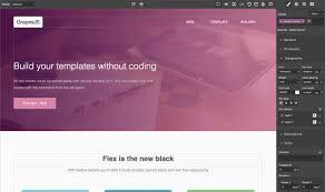 Web Design Using Templates And Wysiwyg Grapesjs