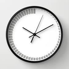 <b>Simple</b> modern wall clock, <b>black</b> and white, minimal <b>sixty minutes</b> ...