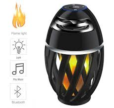 mj a1c led flame speaker torch atmosphere bluetooth speakers outdoor portable stereo speaker