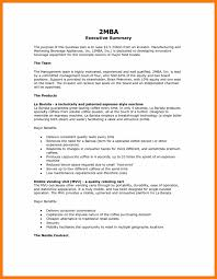 Resume Example Summary Business Plan Summary Example Pdf Executive Sample Startup Personal 54