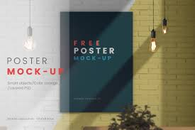 High resolution psd mockups for commercial use • royalty free editable mockup graphics. Poster On The Wall Psd Mock Up Free In Free On Yellow Images Creative Store