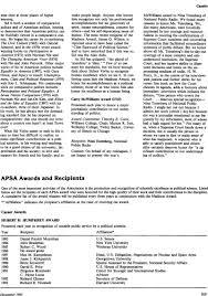 Apsa Awards And Recipients Ps Political Science Politics