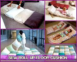 floor cushions diy. Floor Cushions Diy Roll Up Pillow Bed Cushion Tutorial  L How To Floor Cushions Diy L