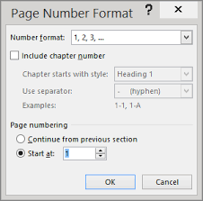 Office Cover Page Start Page Numbering Later In Your Document Word