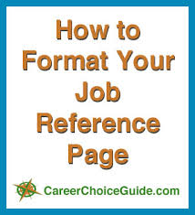 how to format your job reference page sample of reference in resume