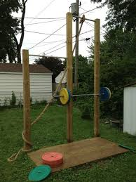 building an outdoor pull up station up bar rope climb station