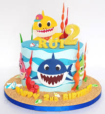 Baby Shark Cake Design Celebrate With Cake Baby Shark Single Tier Shark