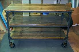 how to build a wooden cart wooden rolling cart metal kitchen utility custom for from wood