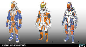 Astronaut Character Design Timo Peter Limit Character Design