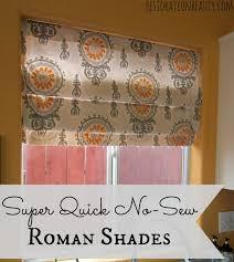Roman Blind Diy Restoration Beauty Super Quick No Sew Roman Shades