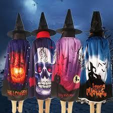 Visland <b>Halloween</b> Pumpkin Skull <b>Ghost Pattern</b> Cloak Hat <b>Cosplay</b> ...