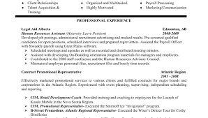 Human Resources Representative Sample Resume Product Analyst